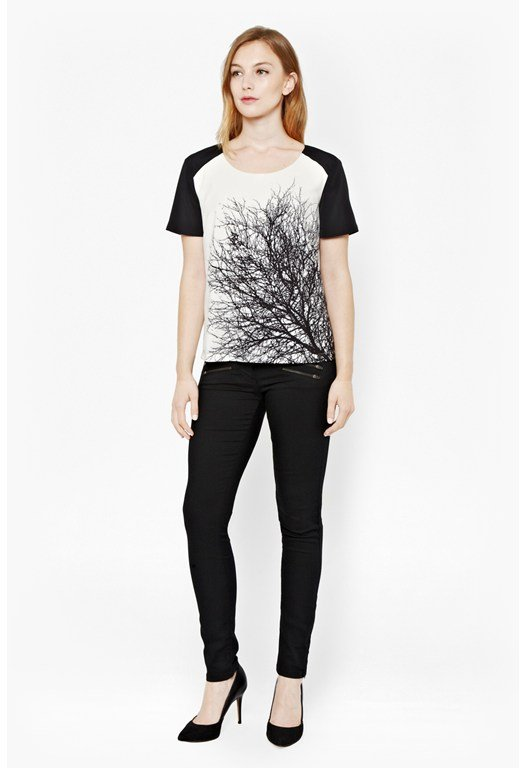 Oak Tree Monochrome Print T-Shirt