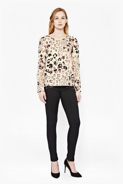 Leopard Kisses Printed Top