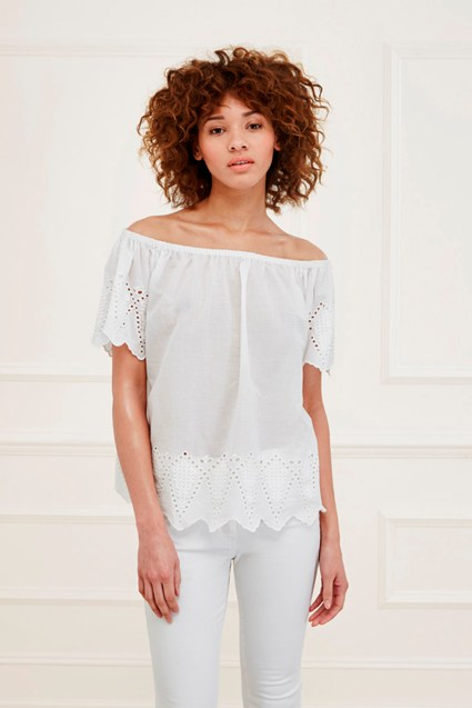 Virgina Lace Embroidered Top