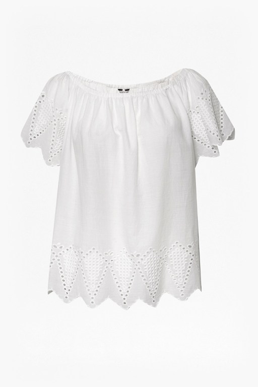 Complete the Look Virgina Lace Embroidered Top