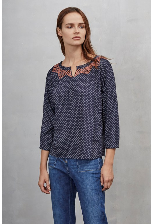Isabelle Broiderie Smock Top
