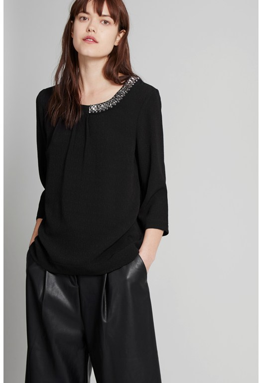 Lapland Crepe Embellished Top