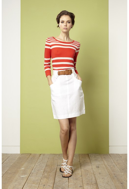 Garden Party Linen Tab Skirt