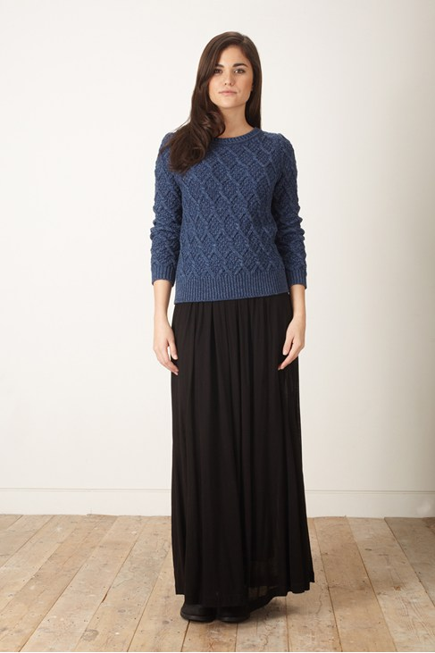Dusty Jersey Maxi Skirt