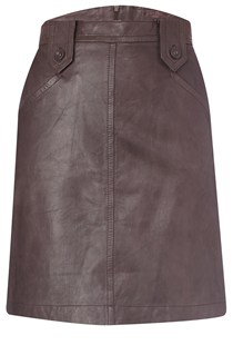 Teia Leather Tab Skirt