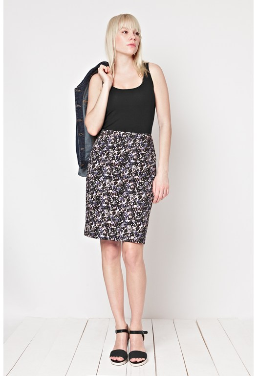 Forget-Me-Not Pencil Skirt