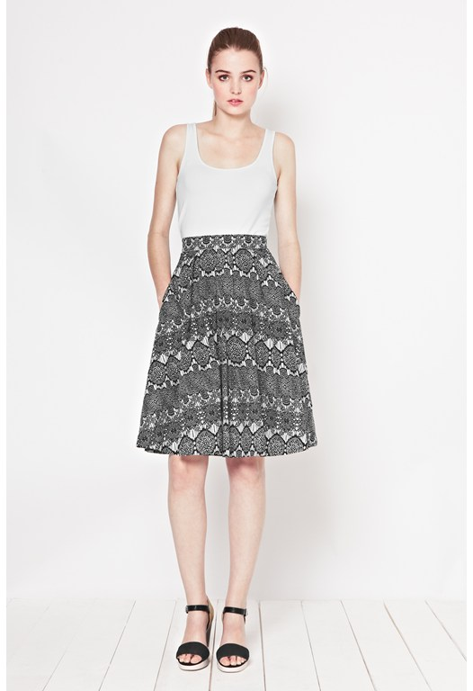 Corleone Lace Print Skirt