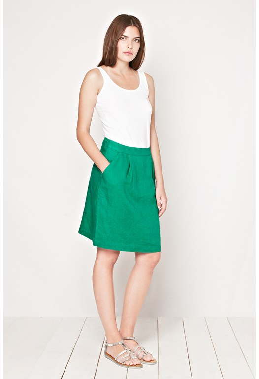 Seahouses Linen Skirt