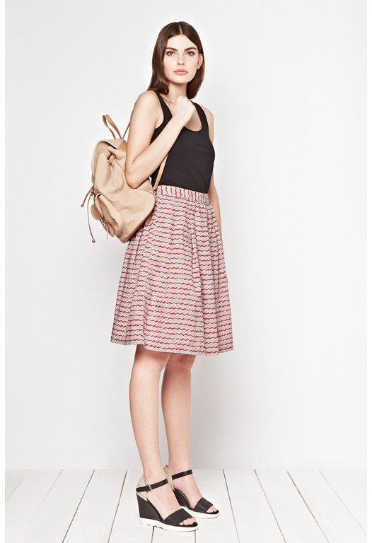 By The Sea Pleated Skirt