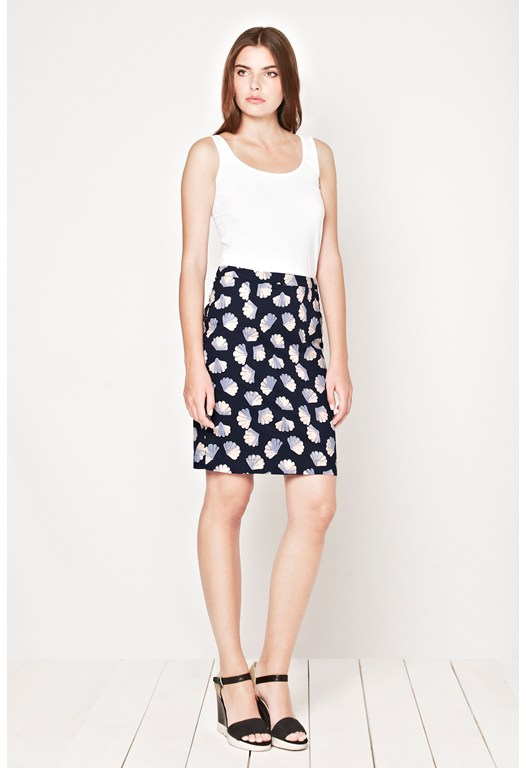 Shelly Cotton Pencil Skirt