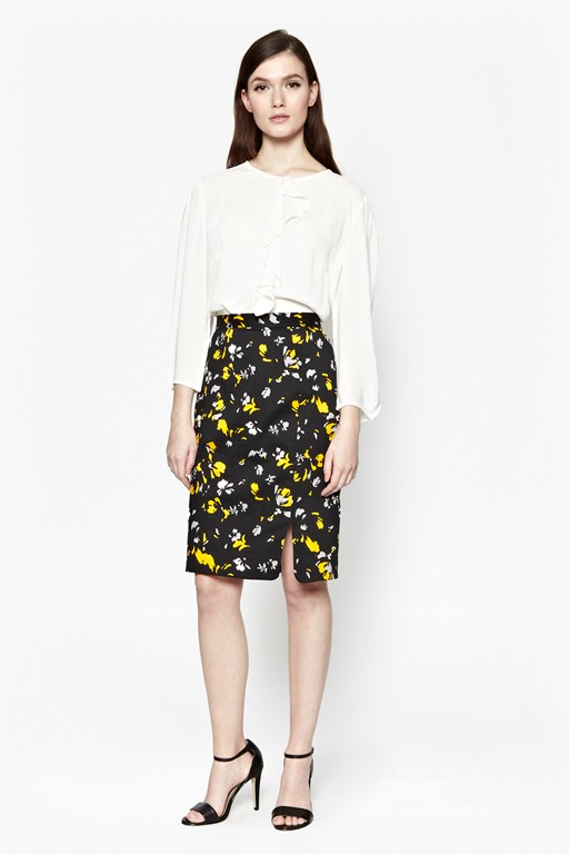 Spring Blossom Pencil Skirt