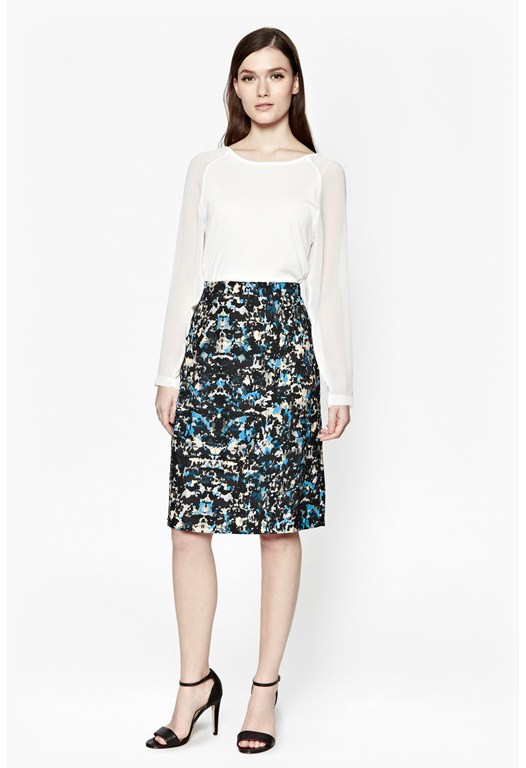 Marble Pop Pencil Skirt