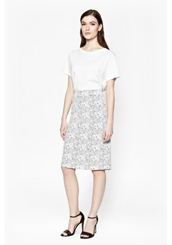 Trellis Jacquard Pencil Skirt