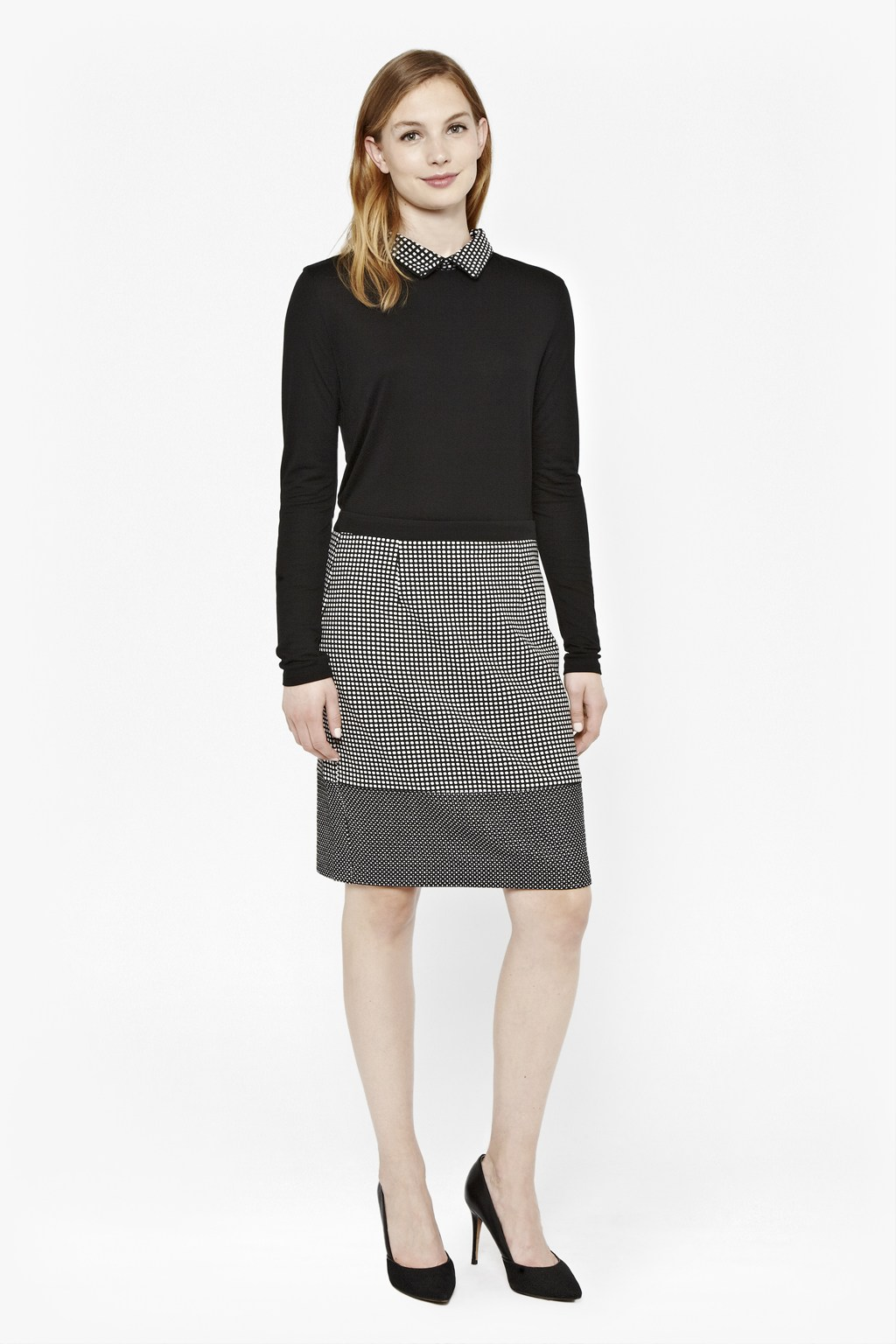 Unique M9470 Women39s Wool Stretch Mid Length Lined Pencil Skirt