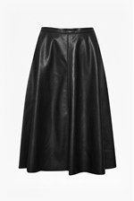Looks Great With Detroit Faux Leather Skater Skirt