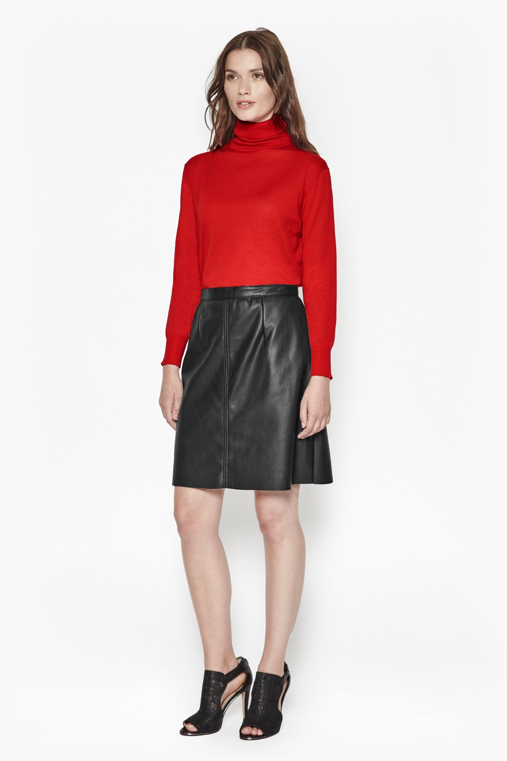 how to clean faux leather skirt
