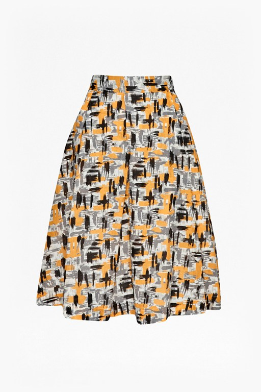 Complete the Look Sketchbook Paintbrush Strokes Skirt