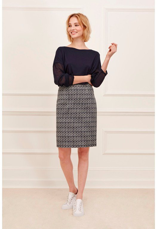 Crosslines Pencil Skirt