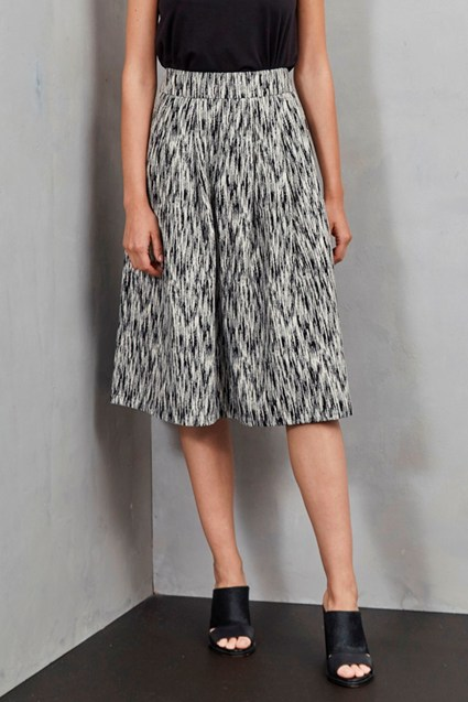 White Noise Pleated Full Skirt