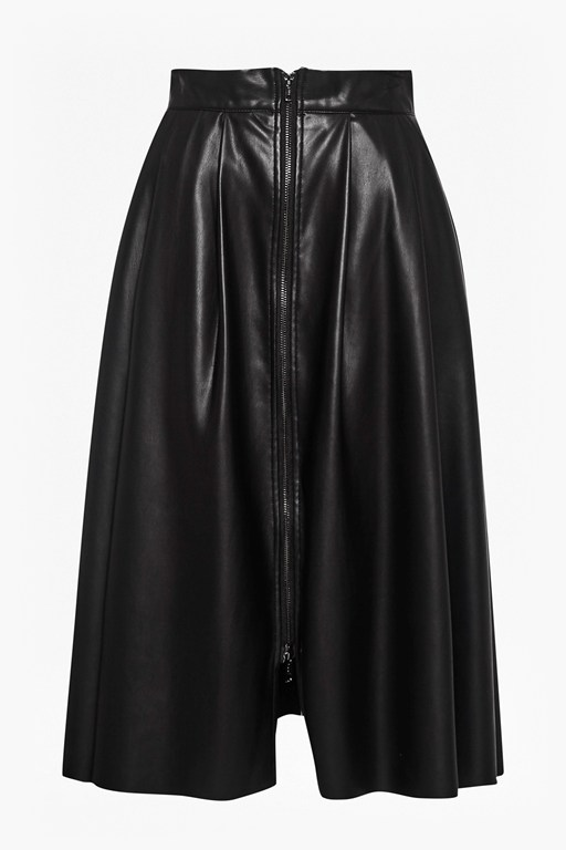 Complete the Look Seattle Faux Leather Zip Skirt