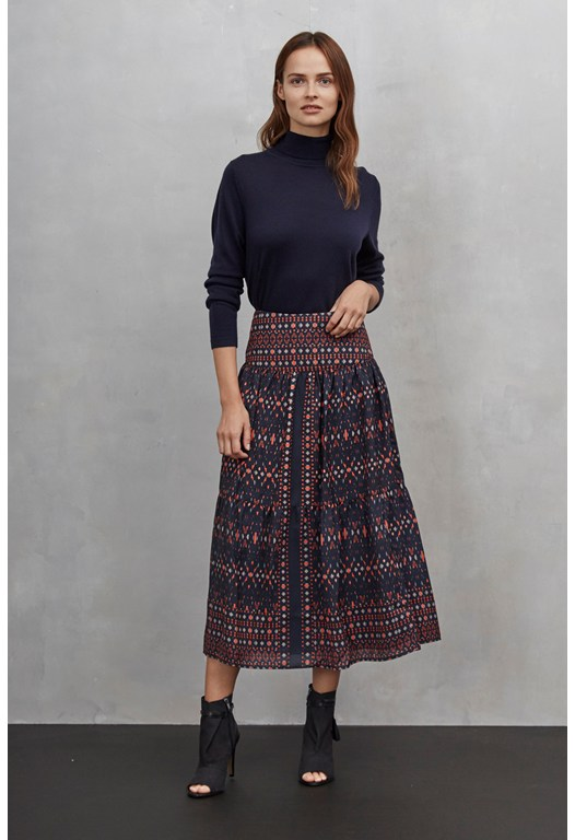 Tarim Ladder Lace Maxi Skirt