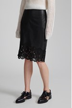 Looks Great With Chicago Lace Hem Skirt
