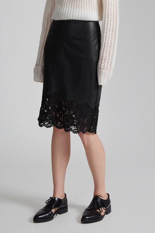 Complete the Look Chicago Lace Hem Skirt