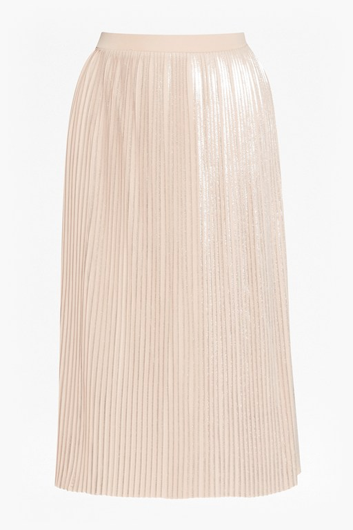Complete the Look Silver Plisse Pleated Skirt