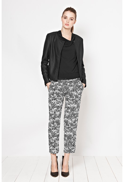 Caligari Print Cropped Trousers