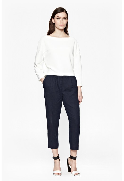 Norfolk Linen Straight Leg Trousers