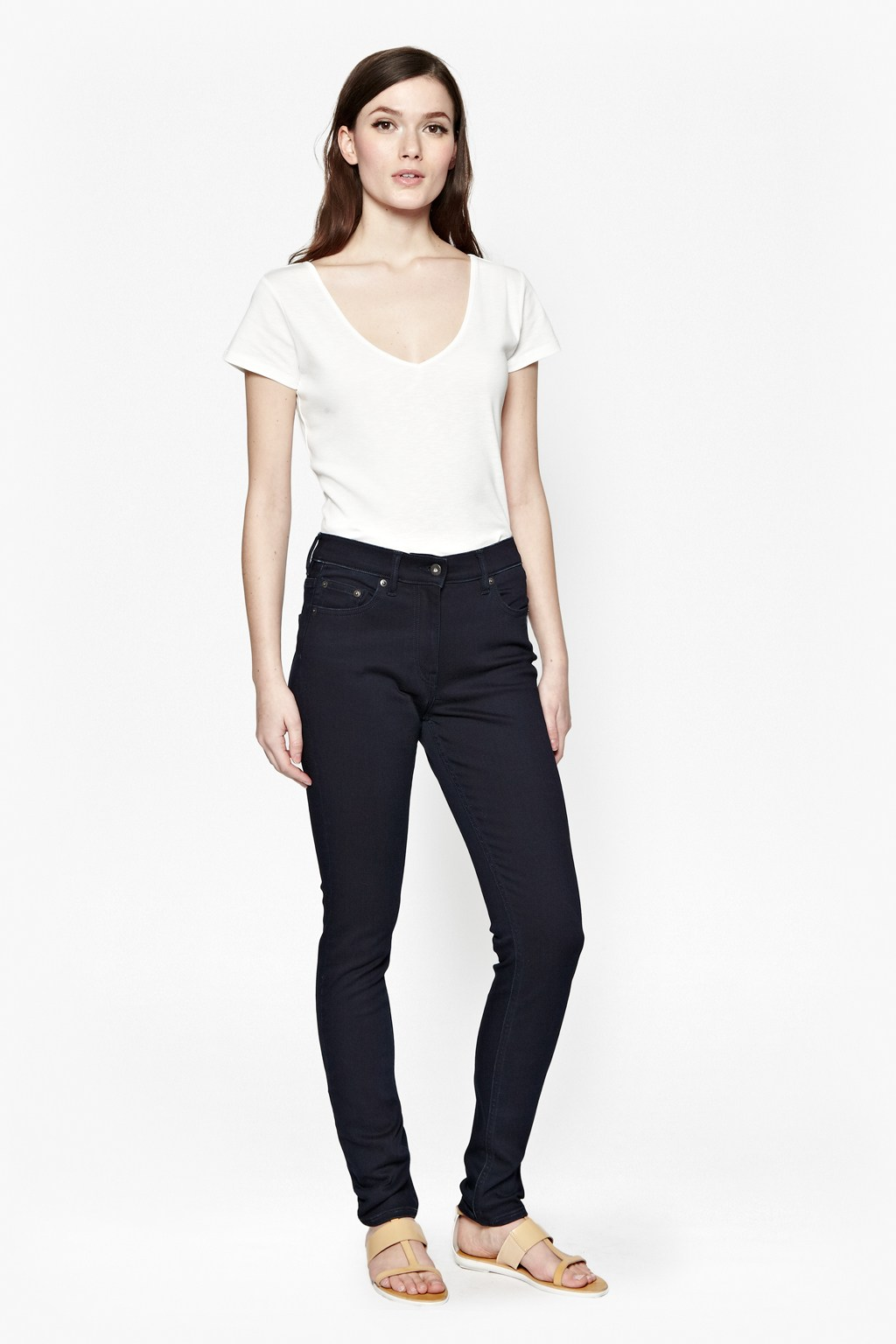 angels high waisted skinny jeans trousers shorts great plains. Black Bedroom Furniture Sets. Home Design Ideas