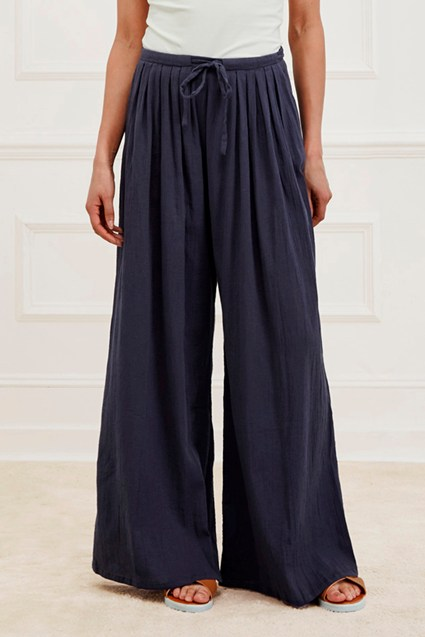Afrika Cotton Wide Leg Trousers