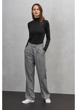 Ida Flannel Wide Leg Trousers