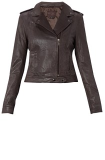 Teia Leather Biker Jacket