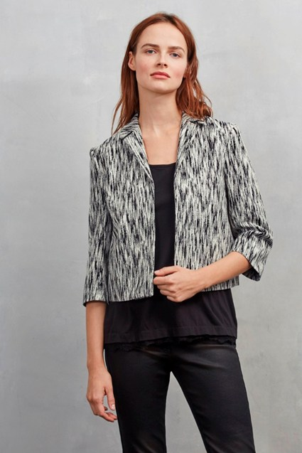White Noise Jacquard Crop Jacket