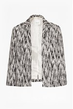 Looks Great With White Noise Jacquard Crop Jacket