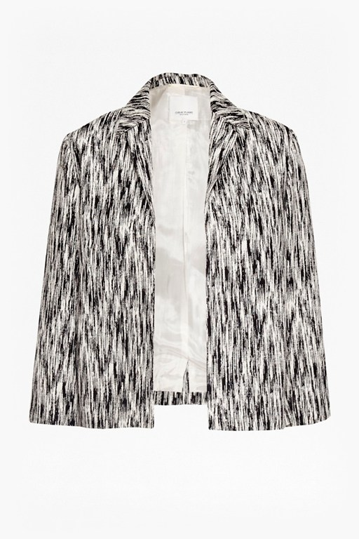 Complete the Look White Noise Jacquard Crop Jacket