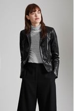 Looks Great With Bronx Biker Faux Leather Jacket