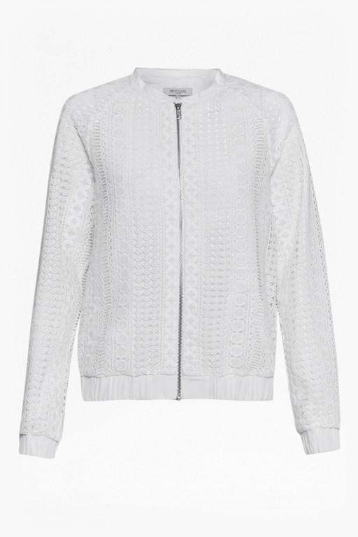 Complete the Look Lucia Lace Mix Bomber Jacket