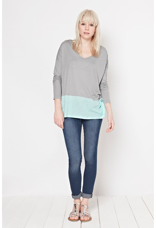 Featherweight Colour Block Top