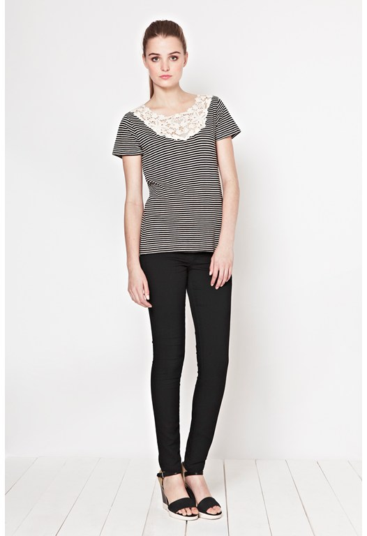 Sofia Stripe Lace T-Shirt