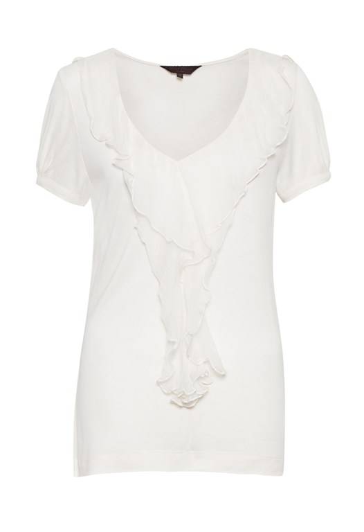 Annabel Jersey Ruffle Top