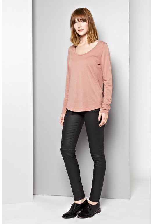 Featherweight Jersey Scoop Neck Top