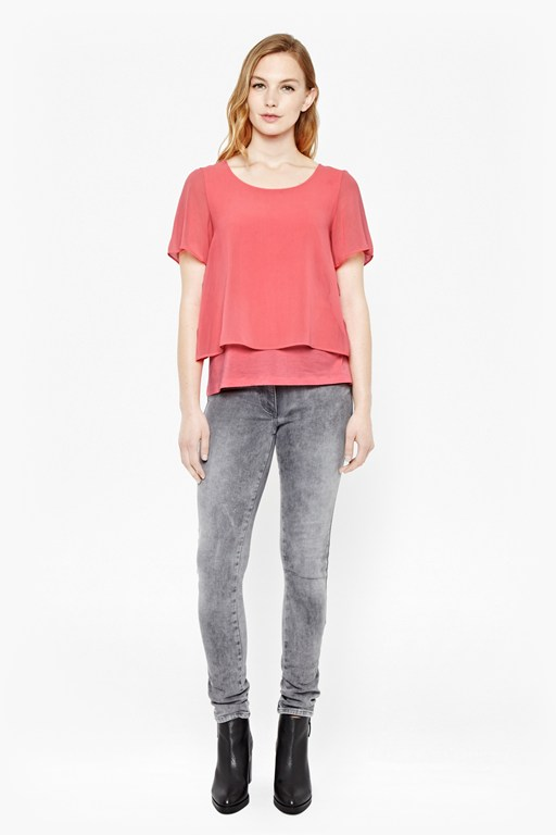 Complete the Look Featherweight Cotton Layered T-Shirt