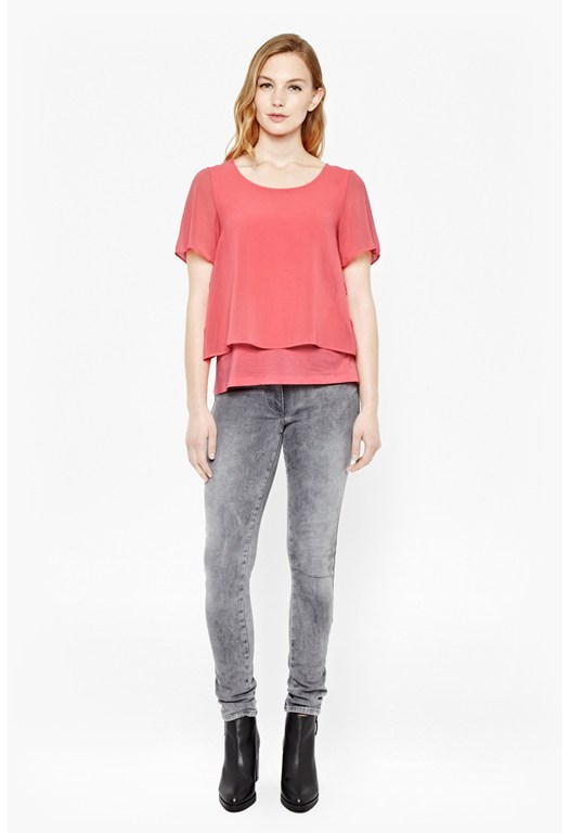 Featherweight Cotton Layered T-Shirt