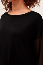 Looks Great With Remix Jersey Sheer Sleeved Top