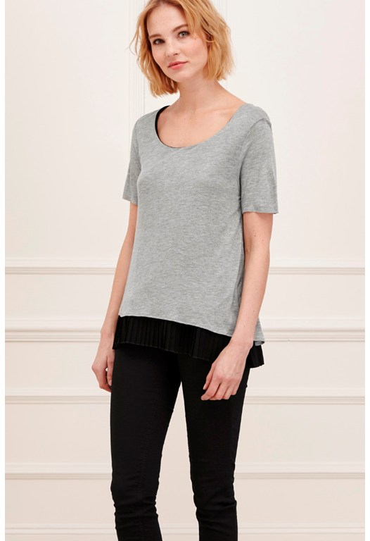 Lucille Jersey Pleated Hem Top