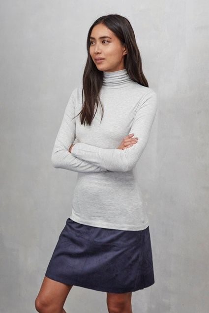 Sudbury Stretch Polo Neck Top