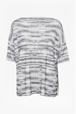 Looks Great With Sonar Stripe Slouch Longline Top