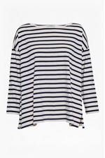 Looks Great With Take It Easy Oversized Stripe T-Shirt